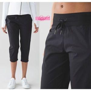 Lulu Studio Crops Black Cropped Joggers Track Pant